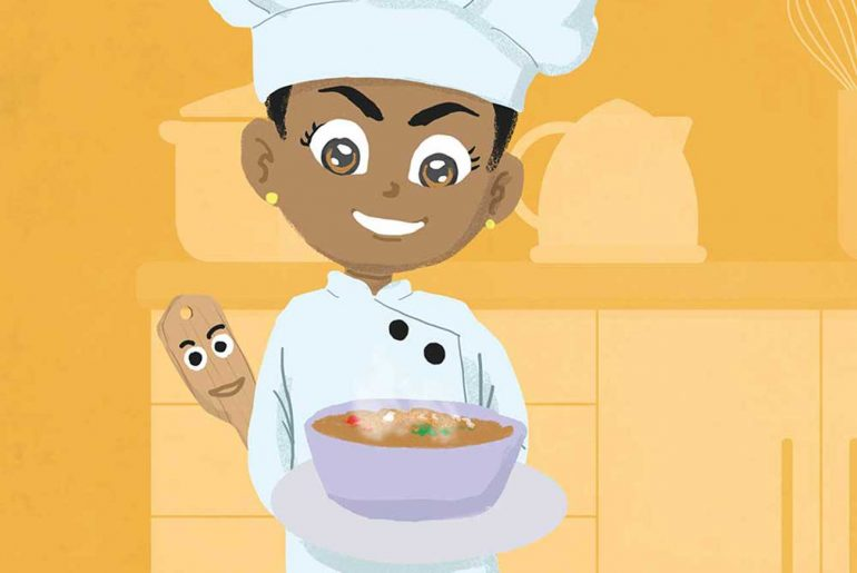 Miss Tiny Chef free bedtime story book - header illustration