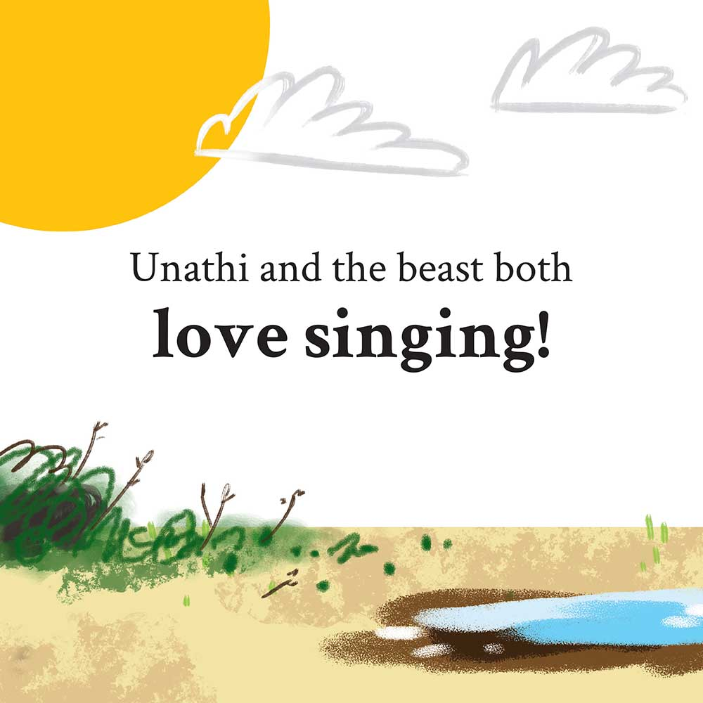 Unathi and the Dirty Smelly Beast: free story books and bedtime stories page 12