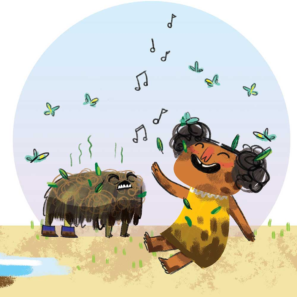Unathi and the Dirty Smelly Beast: free story books and bedtime stories page 13