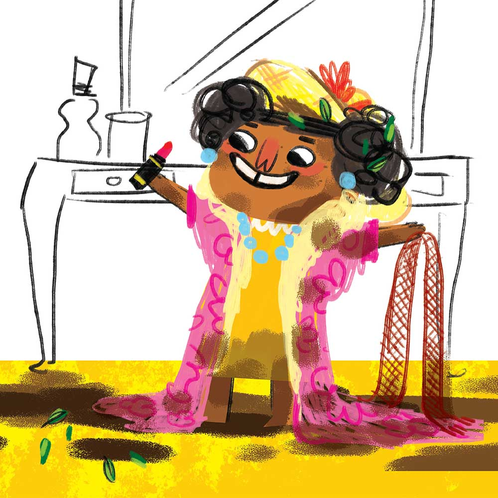 Unathi and the Dirty Smelly Beast: free story books and bedtime stories page 21