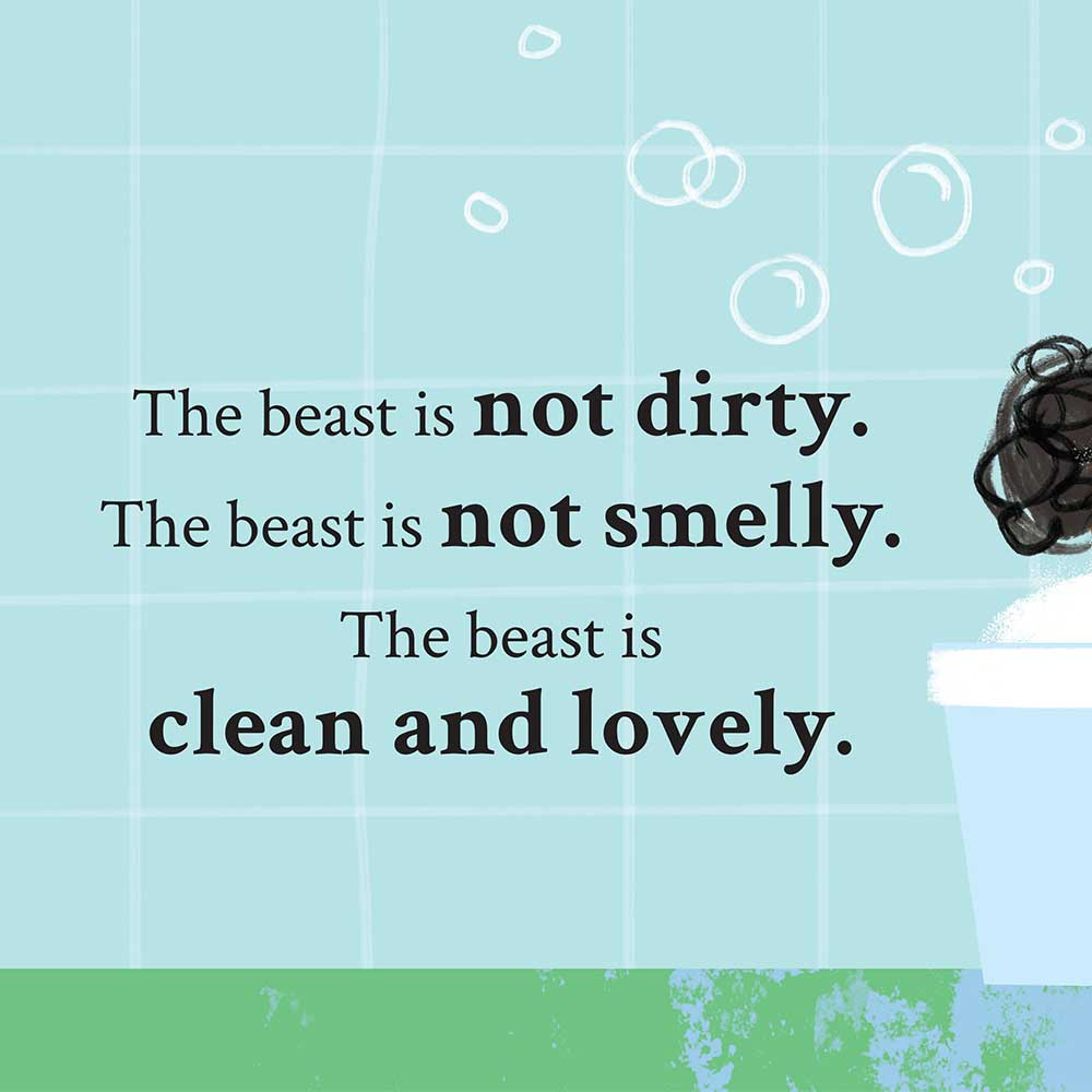 Unathi and the Dirty Smelly Beast: free story books and bedtime stories page 24