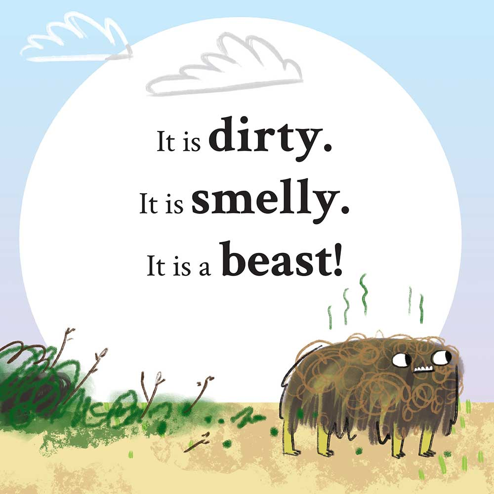 Unathi and the Dirty Smelly Beast: free story books and bedtime stories page 4