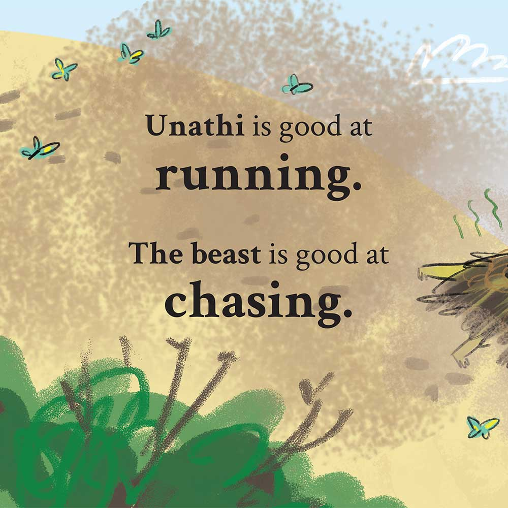 Unathi and the Dirty Smelly Beast: free story books and bedtime stories page 6