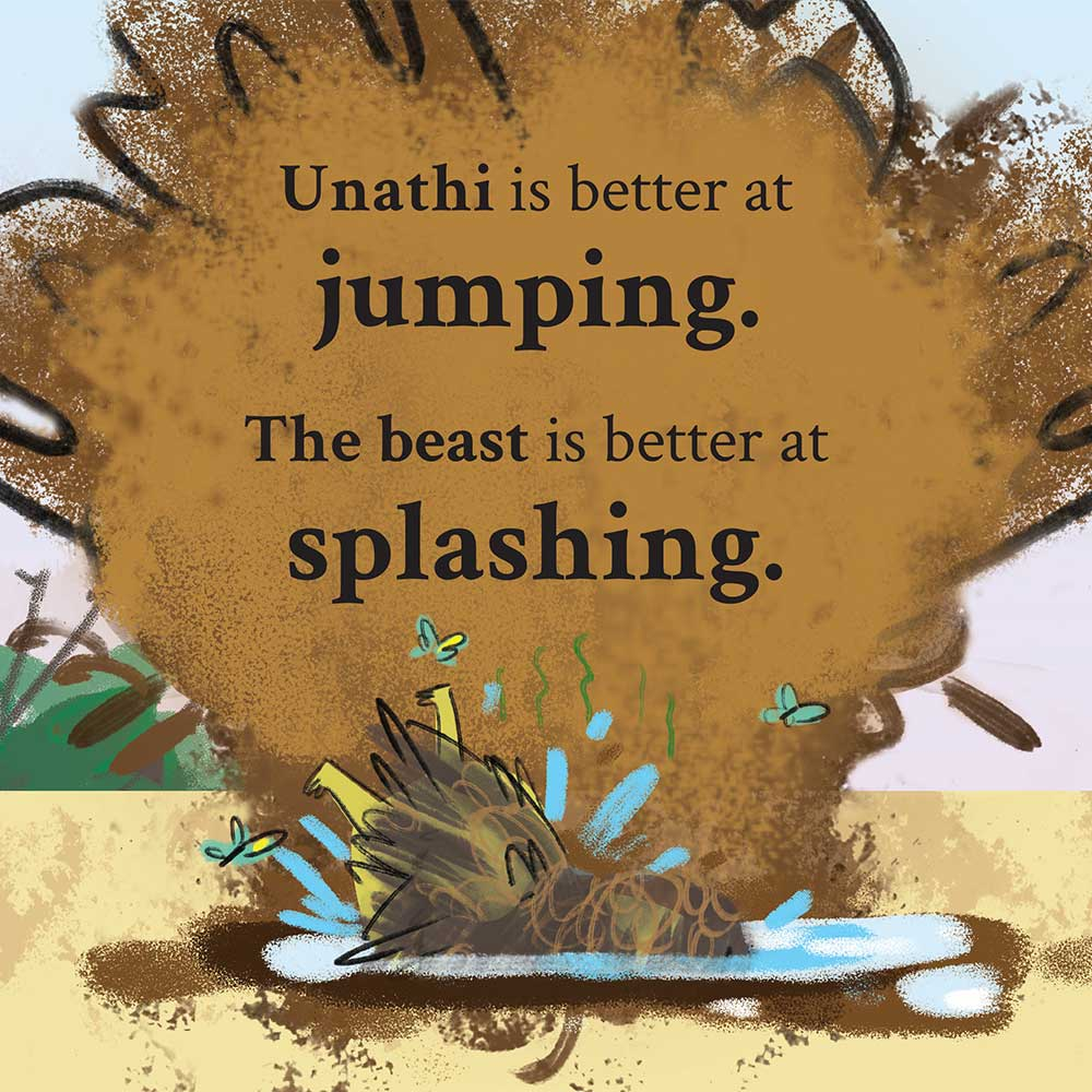 Unathi and the Dirty Smelly Beast: free story books and bedtime stories page 8