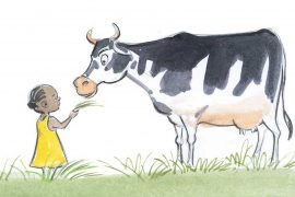 Thuli Special and the Secret - featured illustration of girl and pet cow