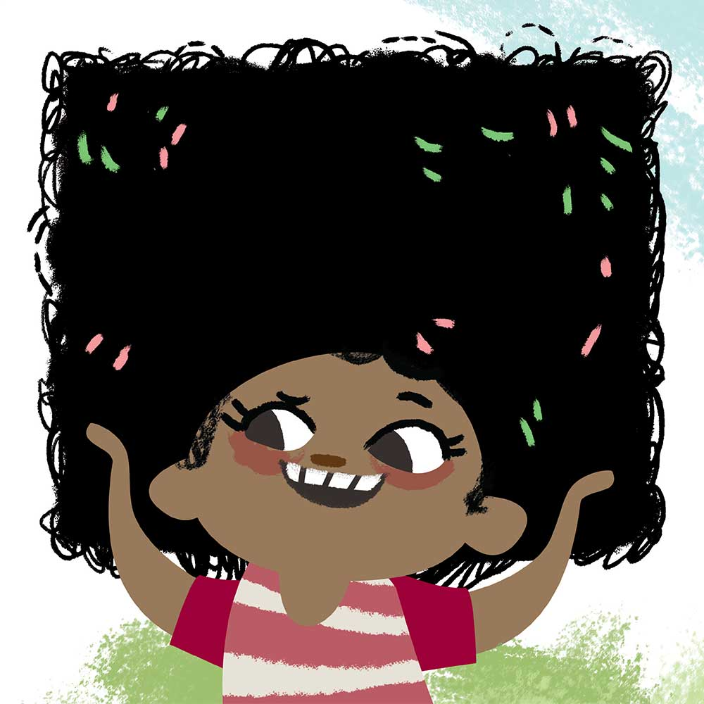 Free illustrated children's picture book My Special Hair - page 15