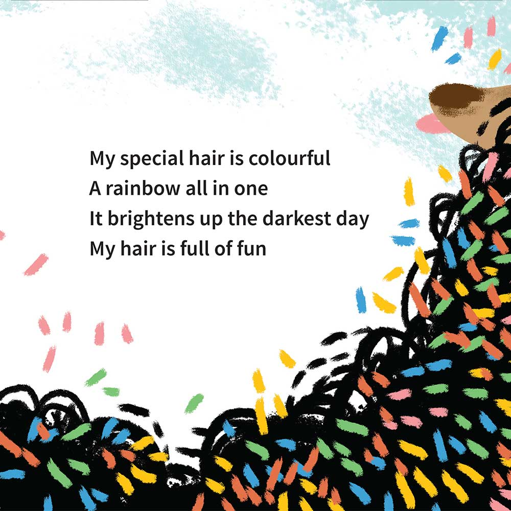 Free illustrated children's picture book My Special Hair - page 21