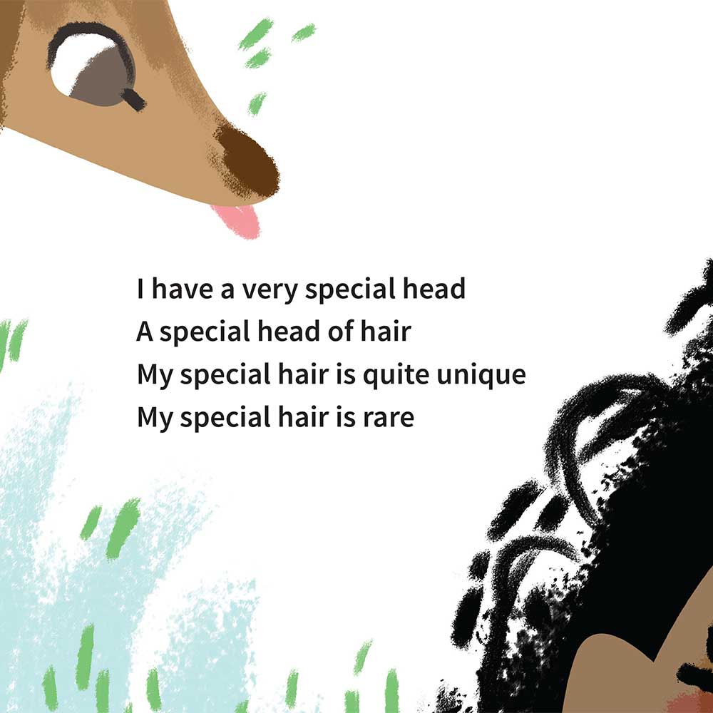 Free illustrated children's picture book My Special Hair - page 2
