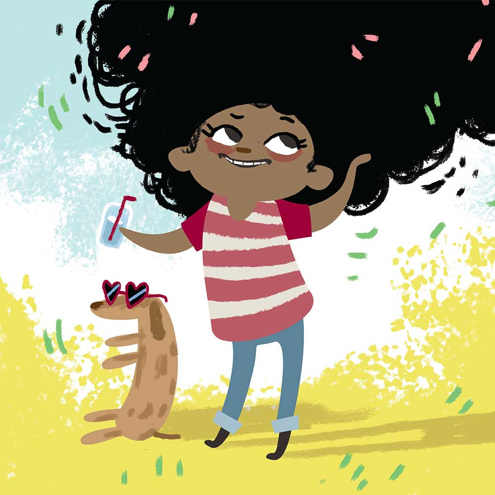 Free illustrated children's picture book My Special Hair - page 6