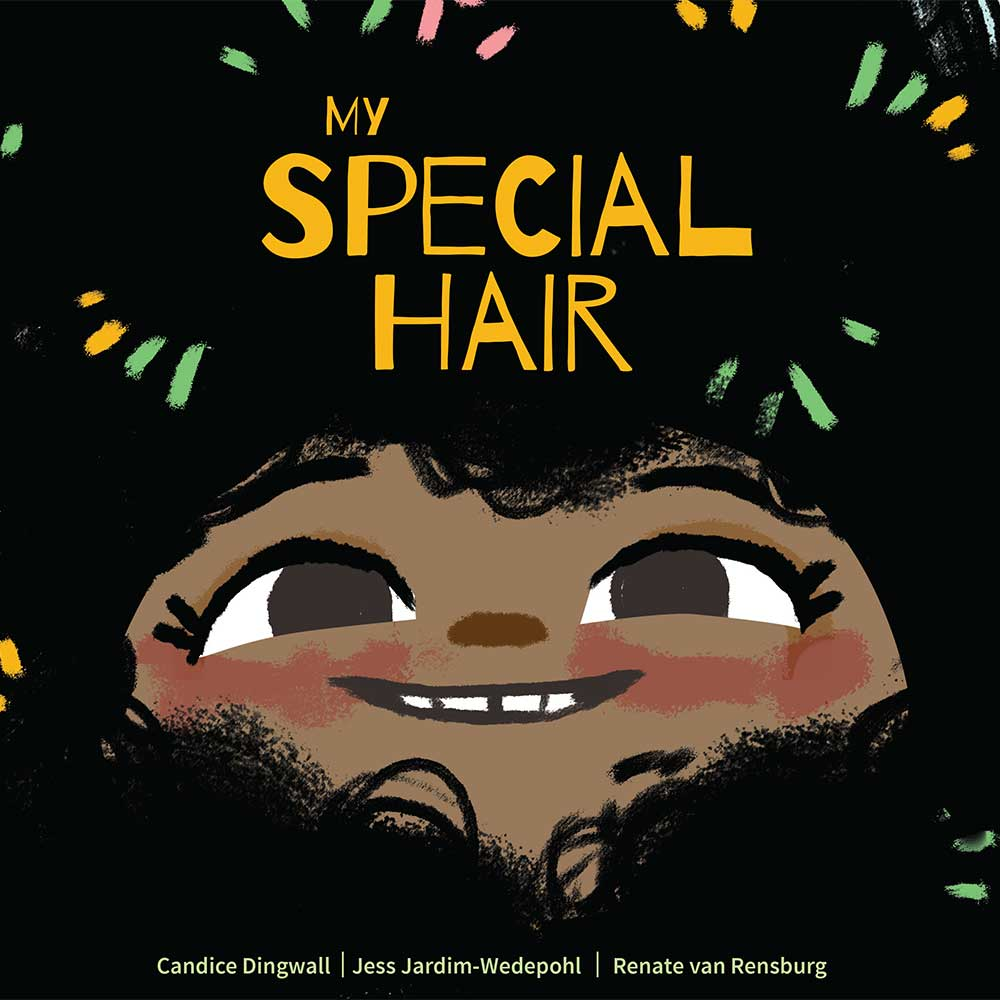 Cover illustration for free children's picture book My Special hair