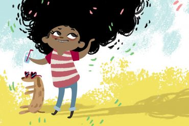 My Special hair free kids picture book -header illustration