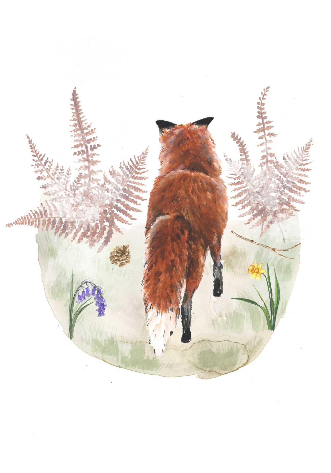 Kids bedtime story picture book Fox and the Pine page 10