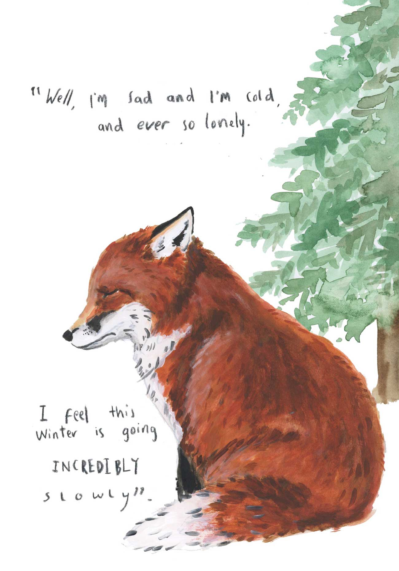 Kids bedtime story picture book Fox and the Pine page 15
