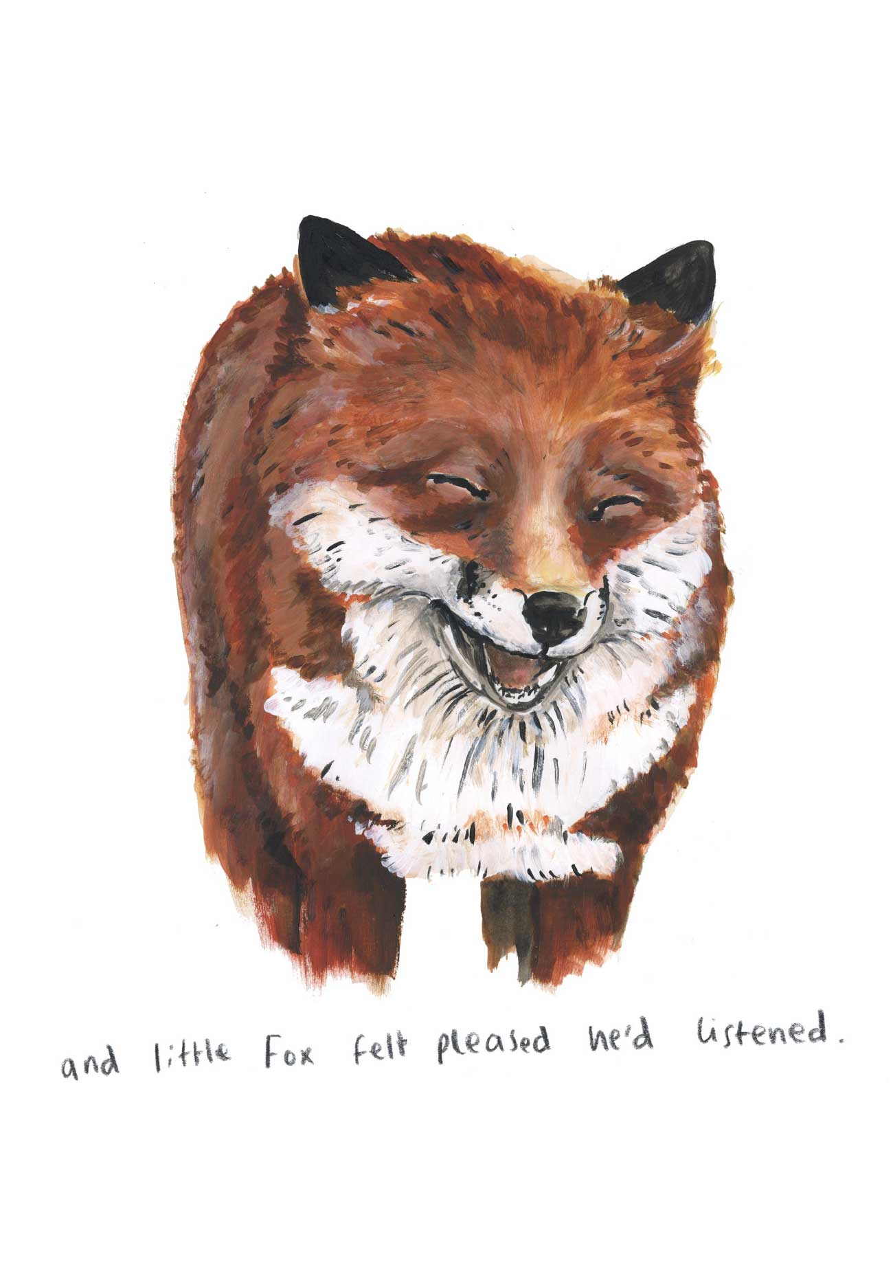 Kids bedtime story picture book Fox and the Pine page 25