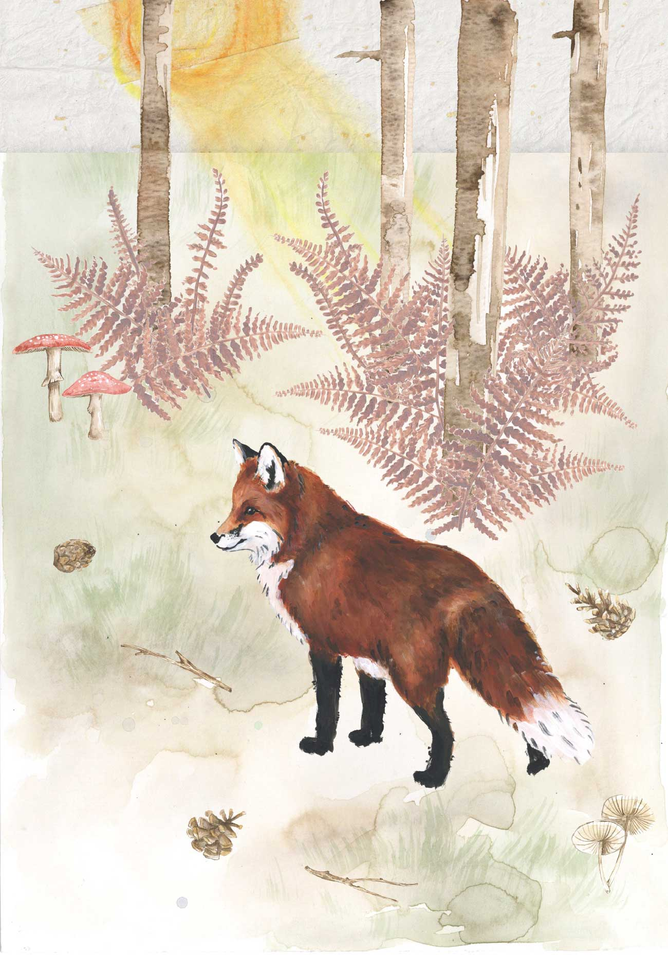 Kids bedtime story picture book Fox and the Pine page 29