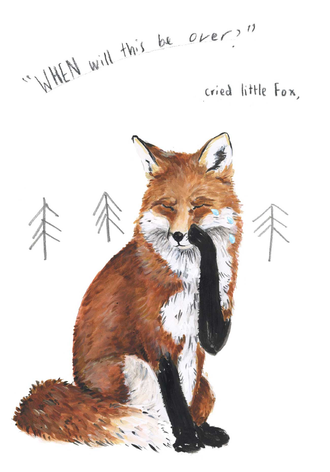 Kids bedtime story picture book Fox and the Pine page 8