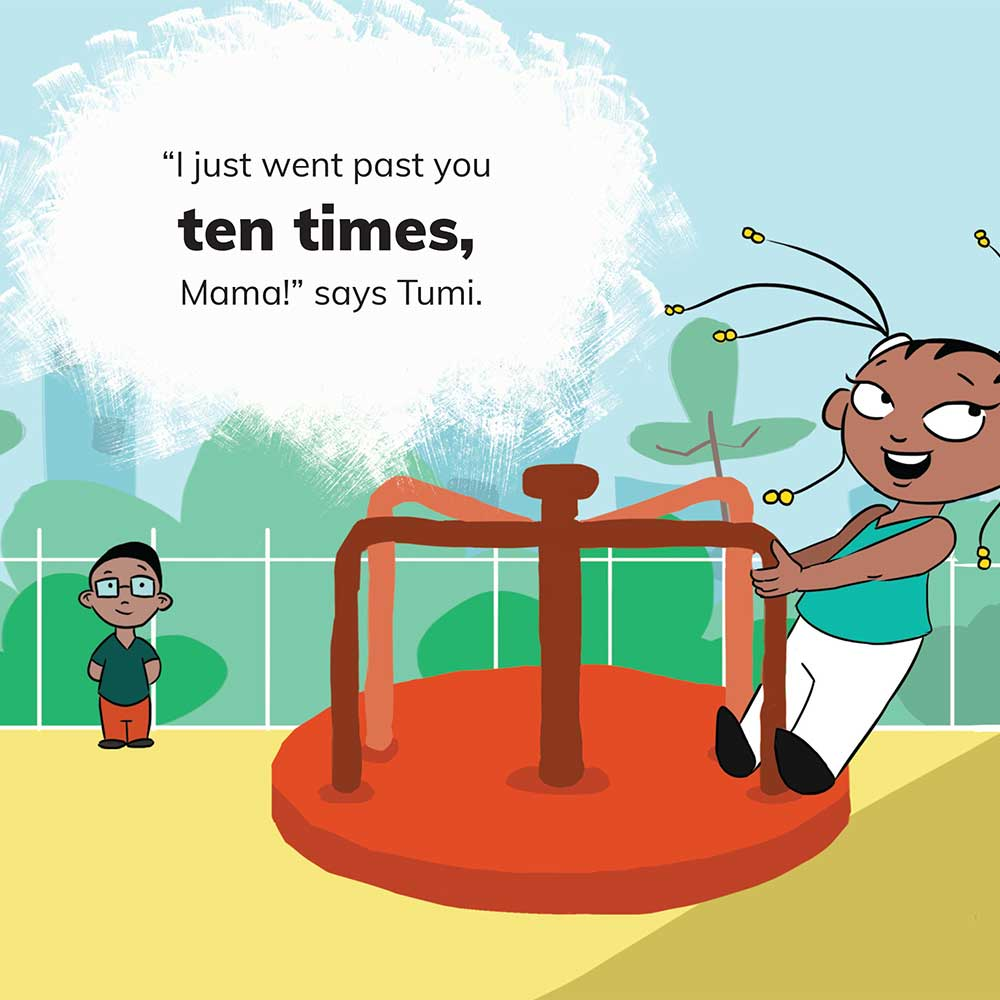 Free Kids 5 min story - Tumi Goes to the Park - page 10