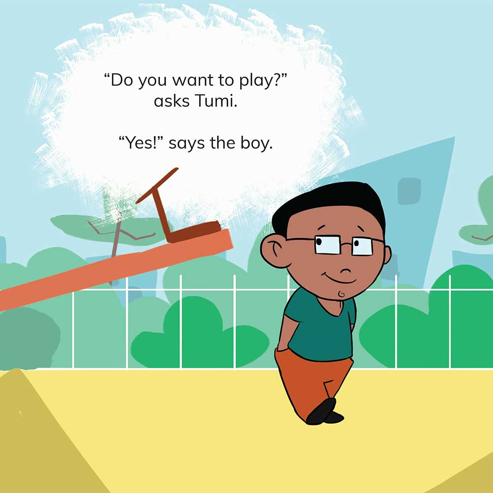 Free Kids 5 min story - Tumi Goes to the Park - page 13