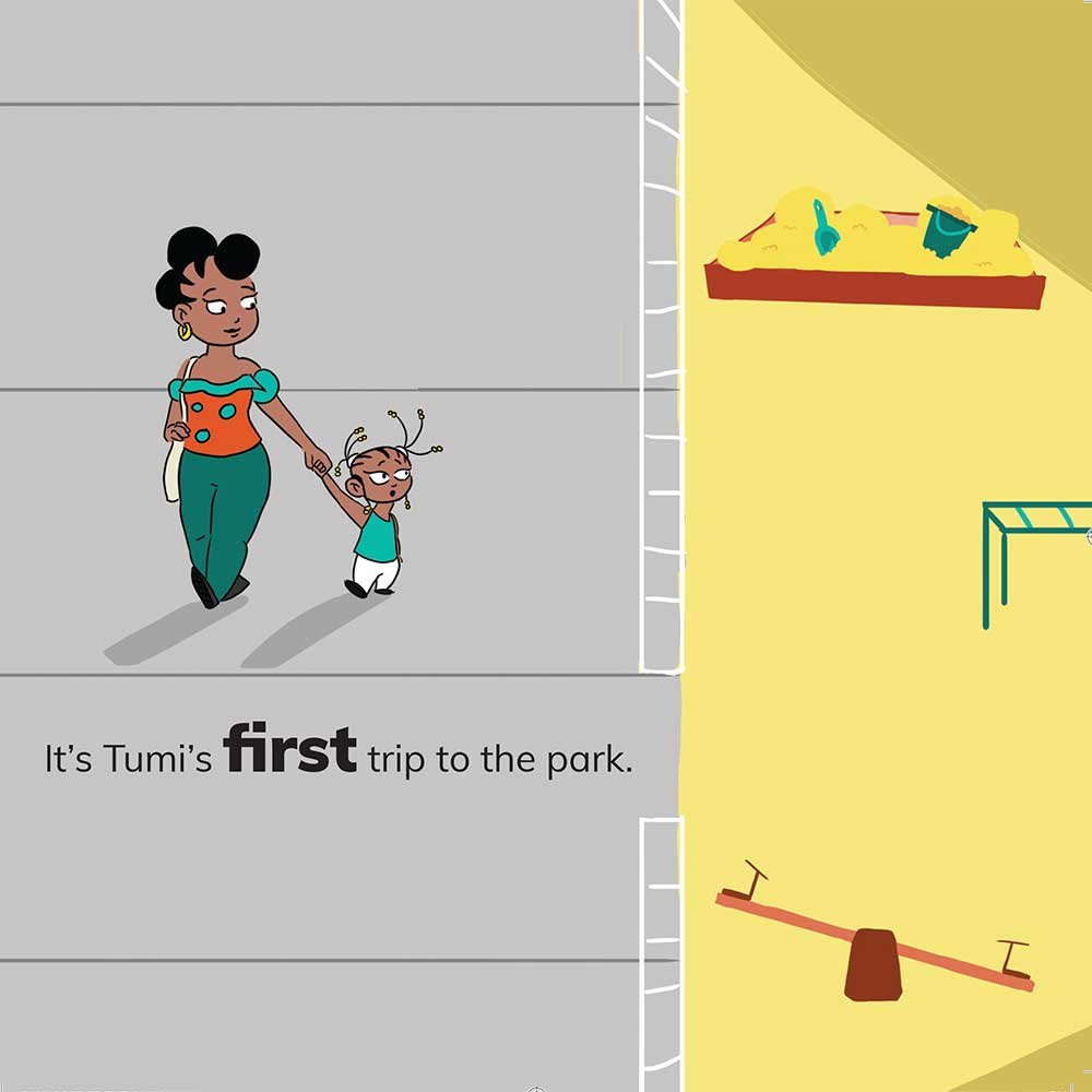 Free Kids 5 min story - Tumi Goes to the Park - page 2