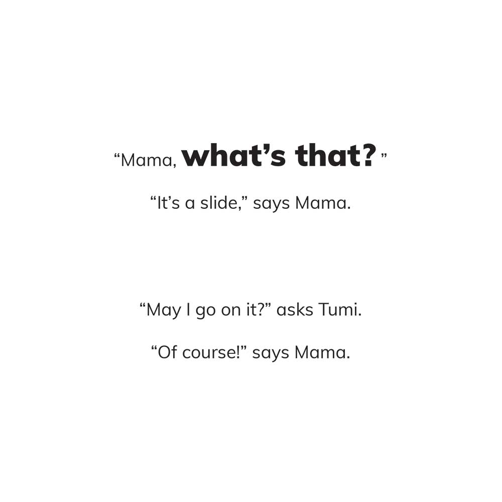 Free Kids 5 min story - Tumi Goes to the Park - page 4