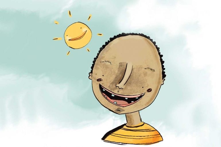 Free Kids Book Senzo and the Sun - Cover illustration