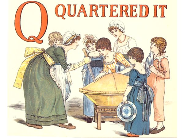 Vintage books Kids Learn To Read Apple Pie Letter Q