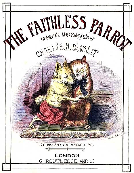 The Faithless Parrot Vintage Childrens Story - Cover