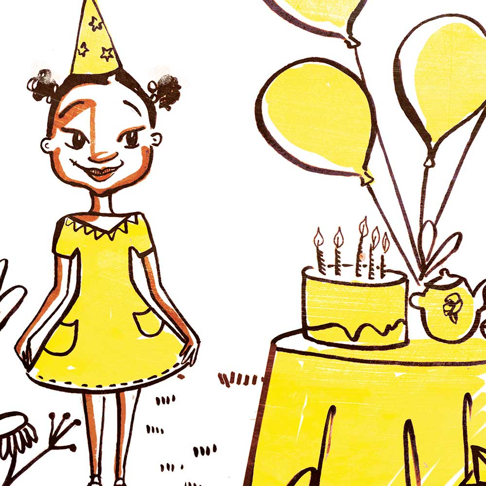 Mina and the birthday dress free kids story page 25