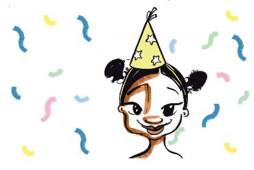 Mina and the birthday dress free kids story cover