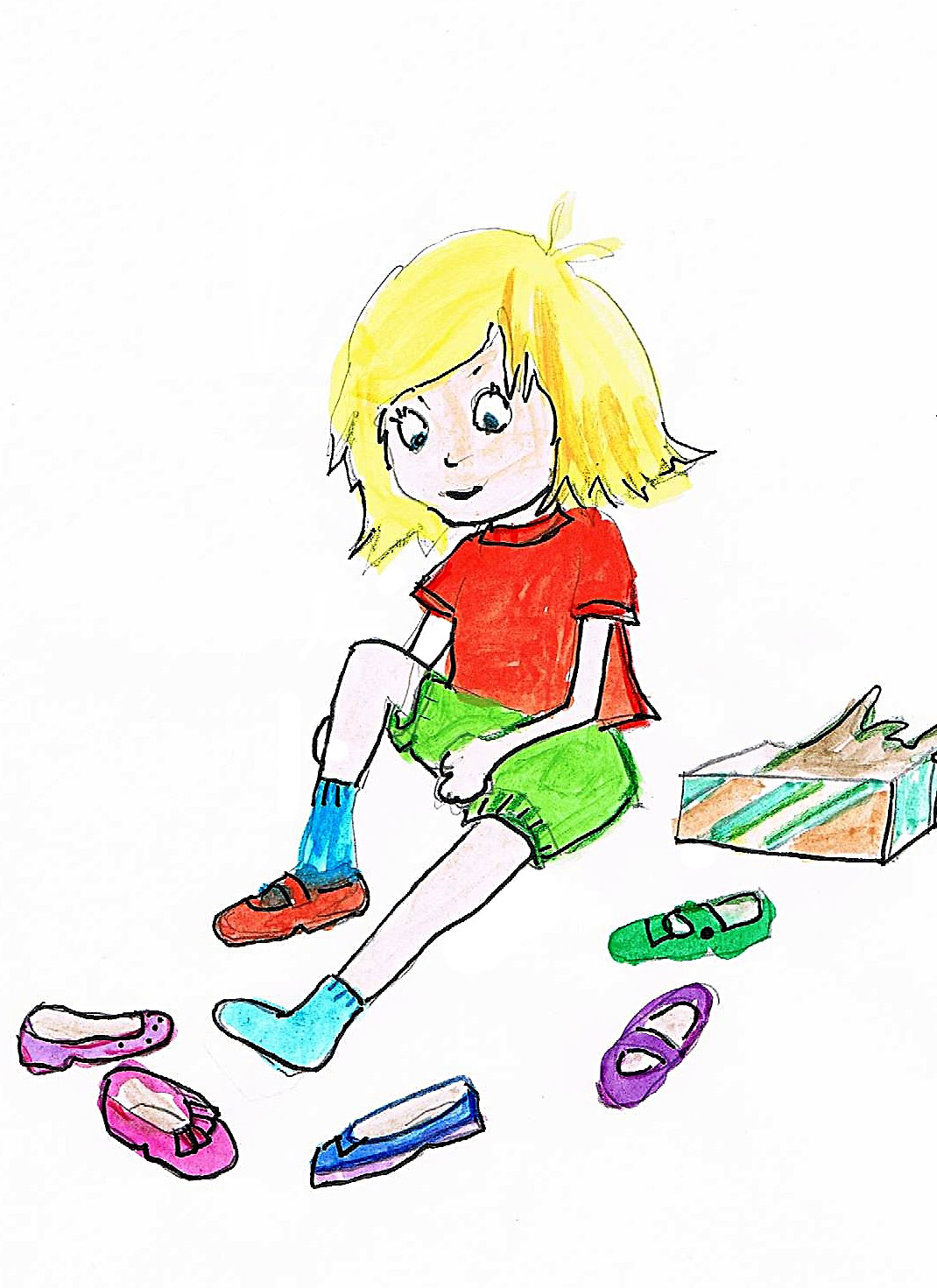 Tilly's Rainbow Shoes Kids Story illustration 1
