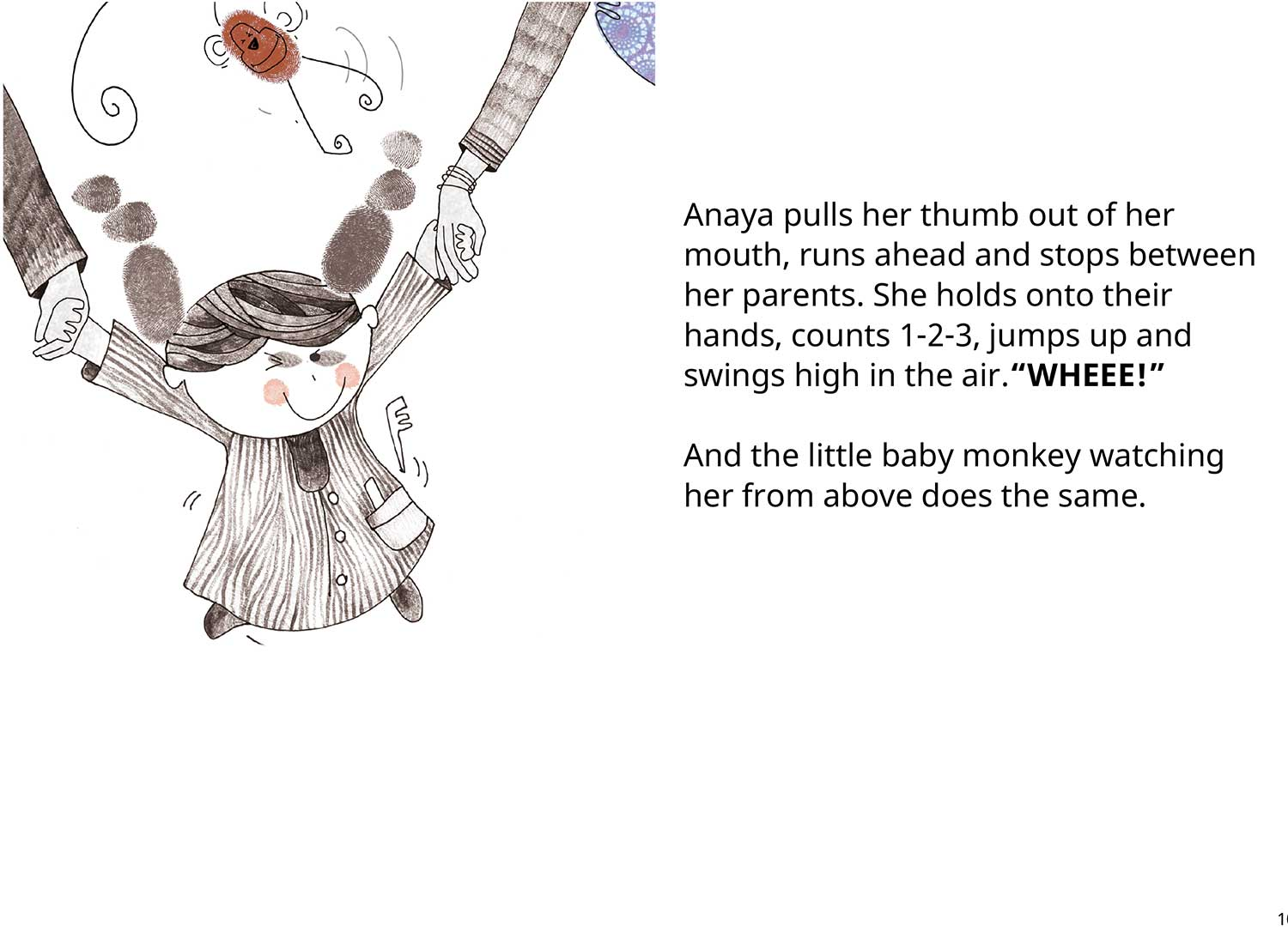 Anaya's Thumb Free toddler's story book - page 9