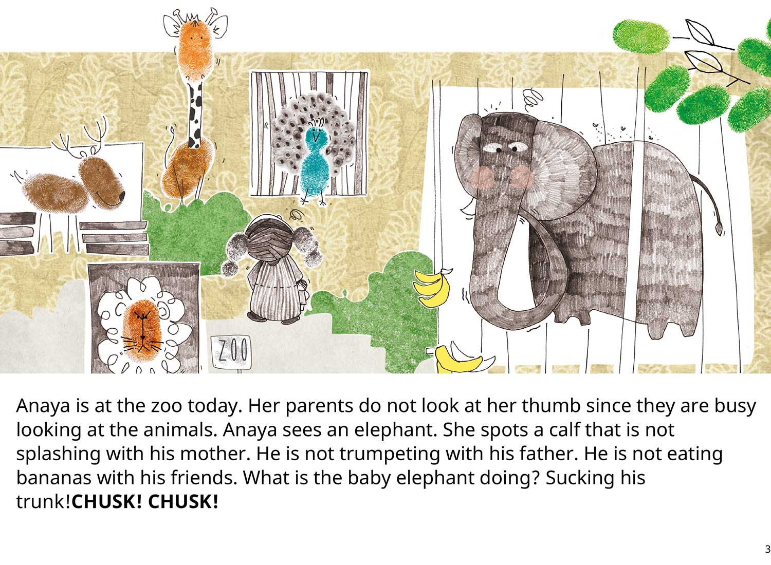 Anaya's Thumb Free toddler's story book - page 2