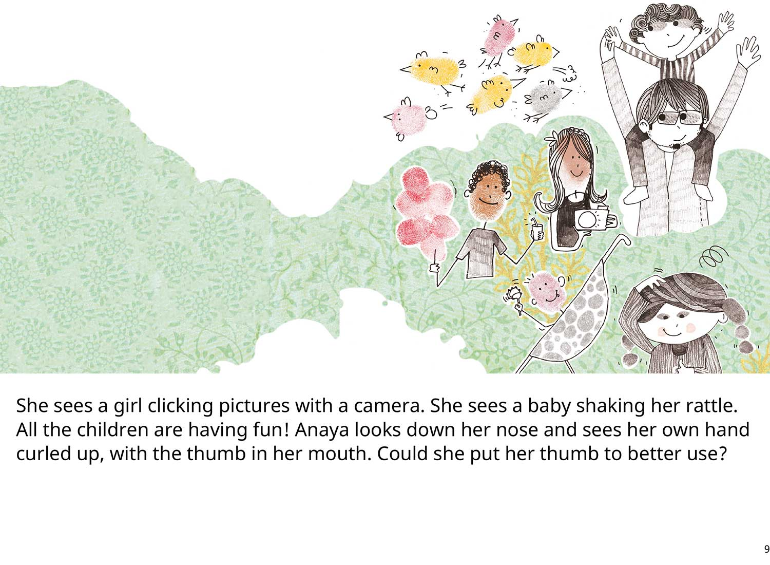 Anaya's Thumb Free toddler's story book - page 8