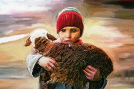 Illustration for childrens poem Kindness to Animals