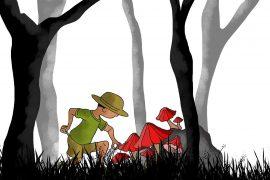 Kaushik the kind detective free kids short story header illustration