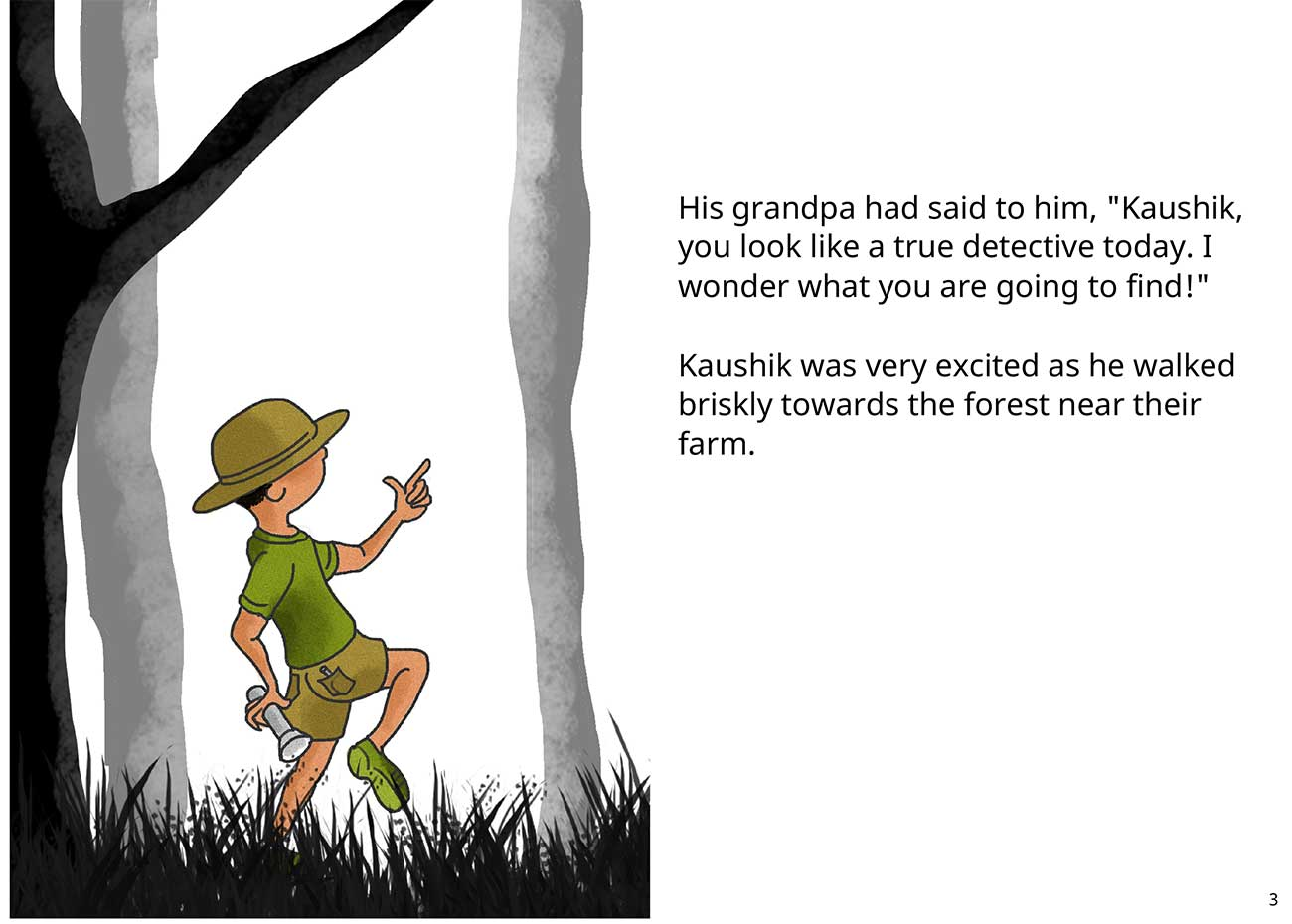 Kaushik the kind detective free kids short story page 3