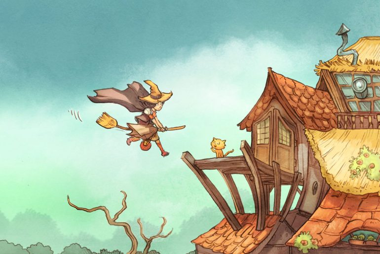 Pepper and Carrot free childrens comic header illustration