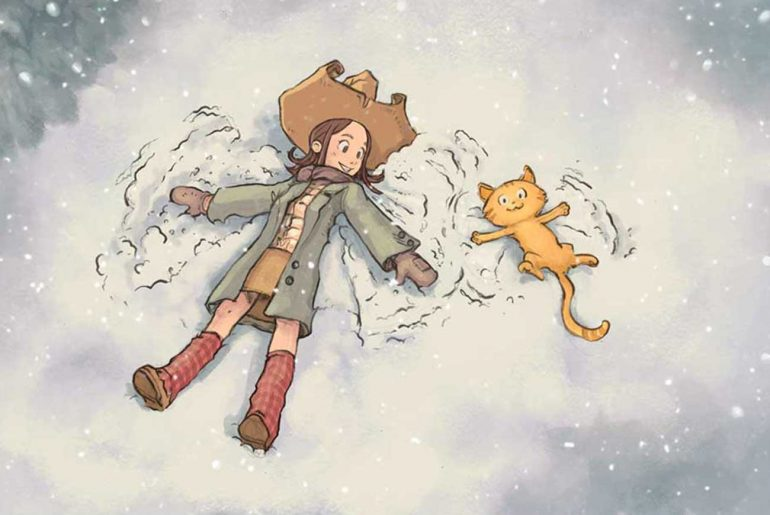 Pepper and Carrot free comic ep5 illustration snow angels
