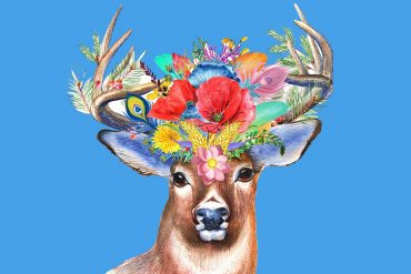 Short stories for kids The Enchanted Stag illustration