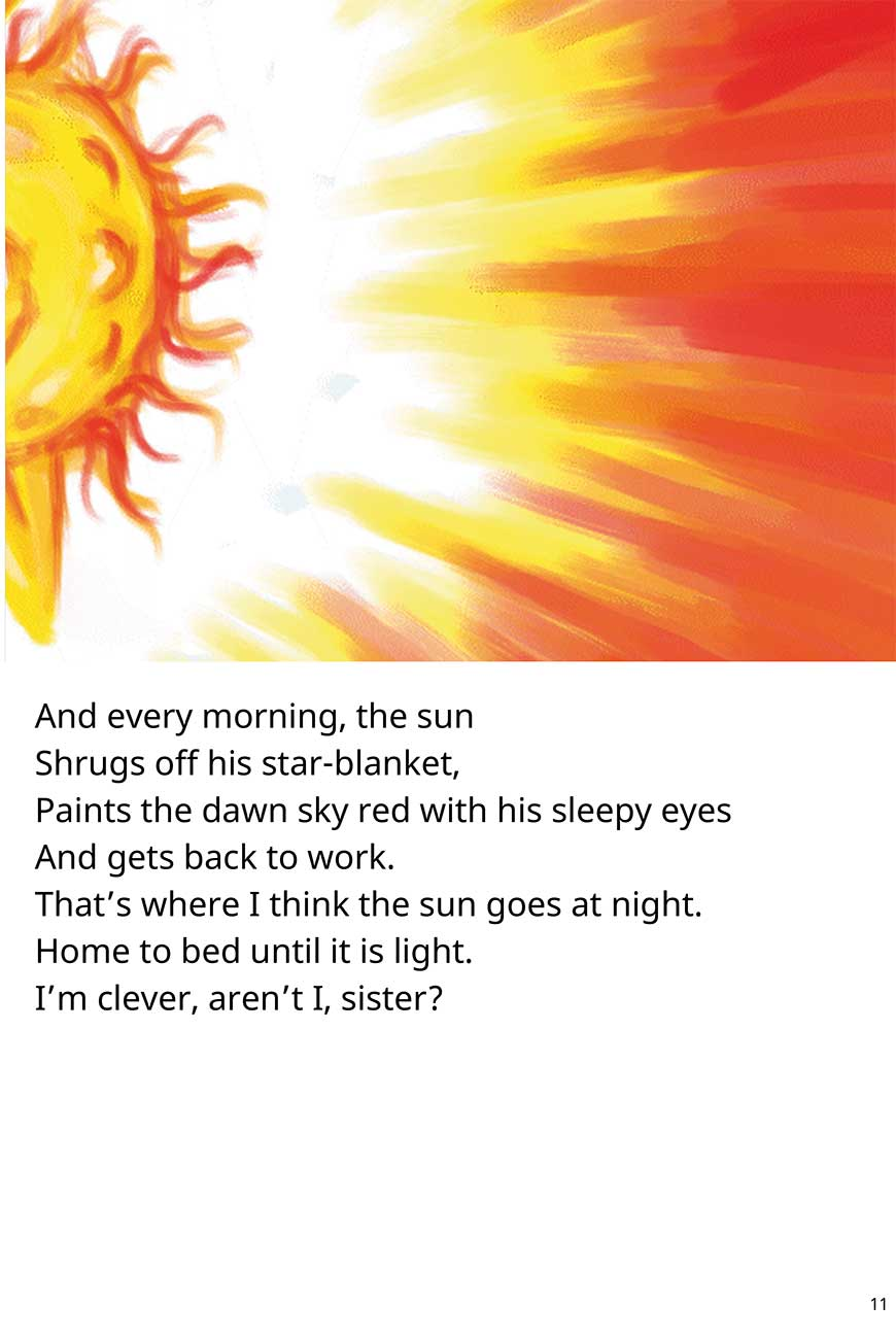 Sister Where Does the Sun Go At Night short stories for kids page 11