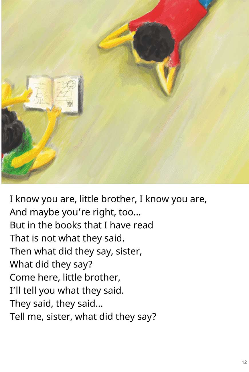 Sister Where Does the Sun Go At Night short stories for kids page 12