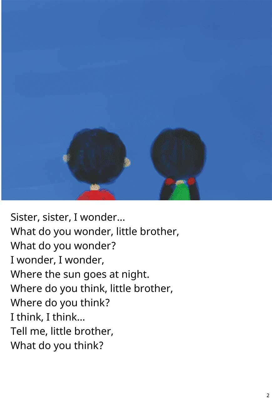 Sister Where Does the Sun Go At Night short stories for kids page 2