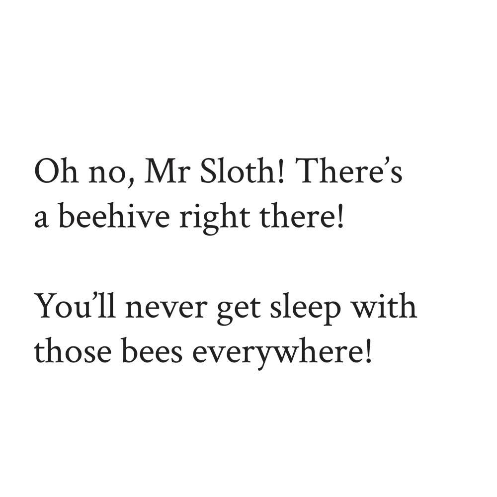Sleepy Mr Sloth short stories for kids 12