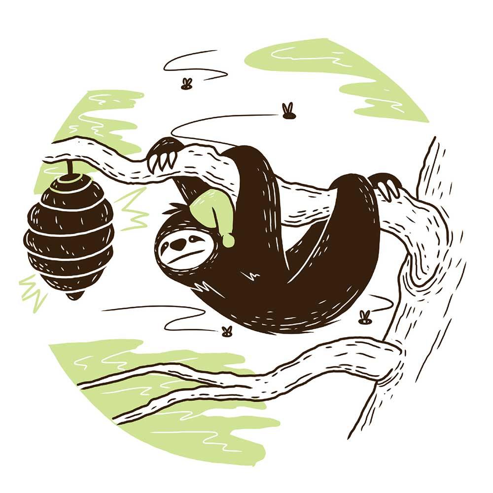 Sleepy Mr Sloth short stories for kids 13