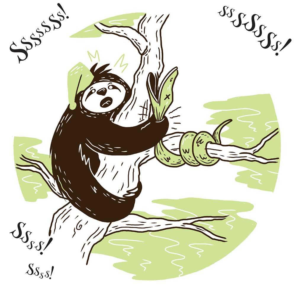 Sleepy Mr Sloth short stories for kids 17
