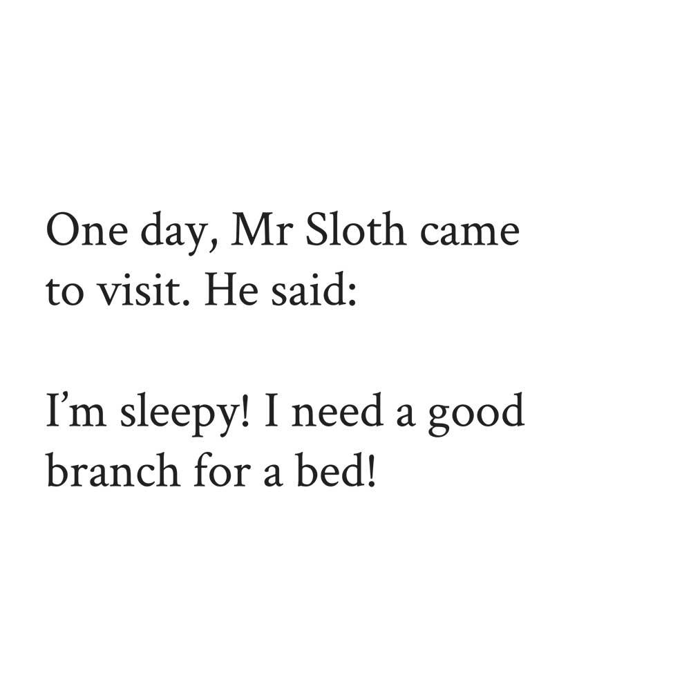 Sleepy Mr Sloth short stories for kids 2