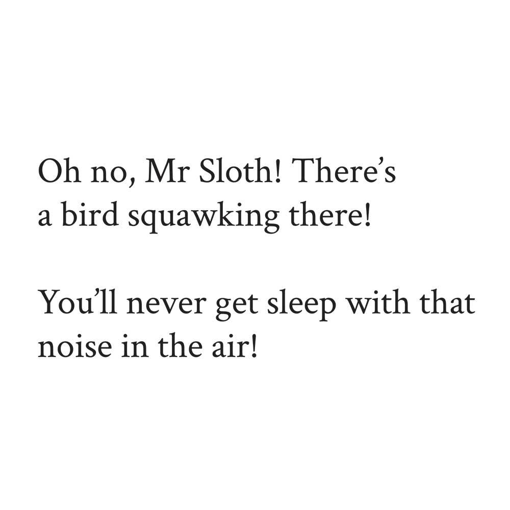 Sleepy Mr Sloth short stories for kids 20