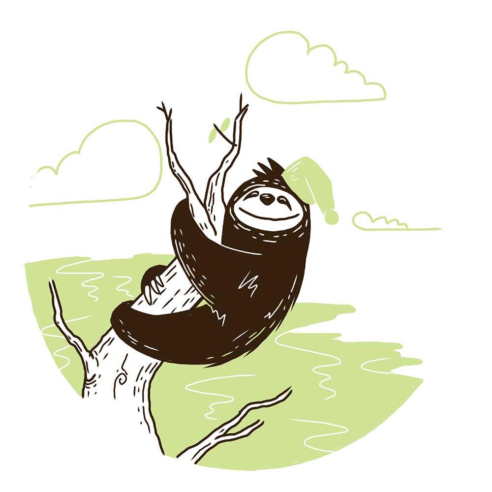 Sleepy Mr Sloth short stories for kids 23