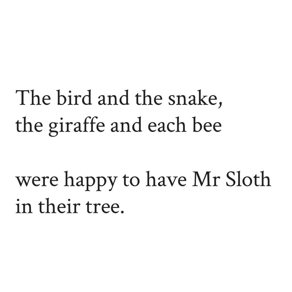 Sleepy Mr Sloth short stories for kids 24