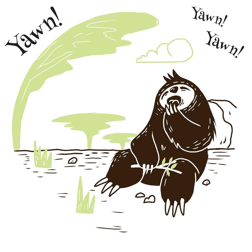 Sleepy Mr Sloth short stories for kids 3